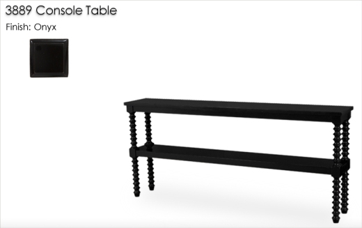 Lorts 3889 Console Table finished in Onyx