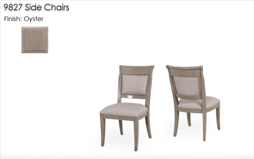 Lorts 9827 Side Chairs finished in Oyster