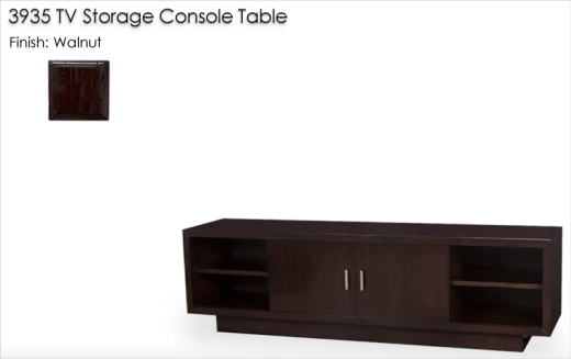 3935 TV Storage Console Table finished in Walnut