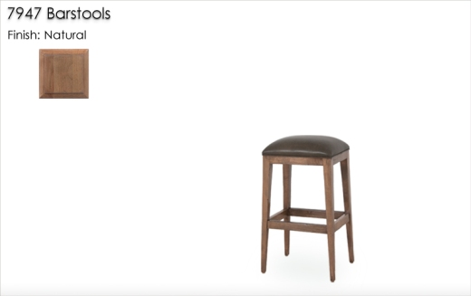 Lorts 7947 Barstools finished in Natural
