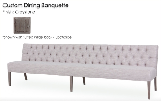 Lorts Custom Extended Length 877 Dining Banquette with tufted inside back upcharge
