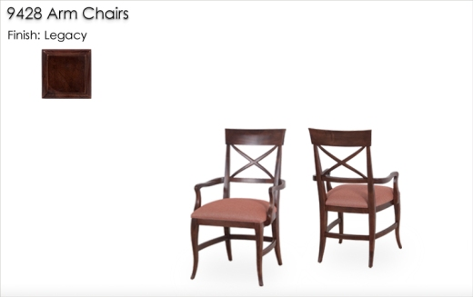 9428 Arm Chairs finished in Legacy