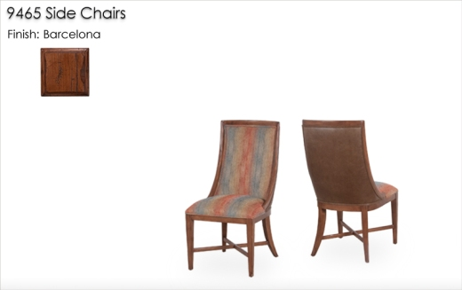 9465 Side Chairs finished in Barcelona