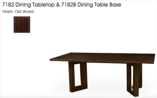 7182 / 7182B Dining Table finished in Old World