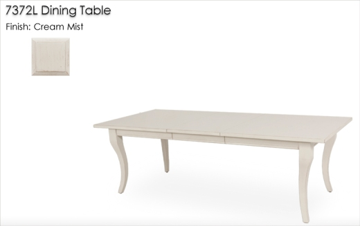 7372L Dining Table finished in Cream Mist