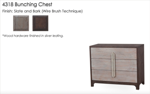 4318 Bunching Chest finished in Slate and Bark