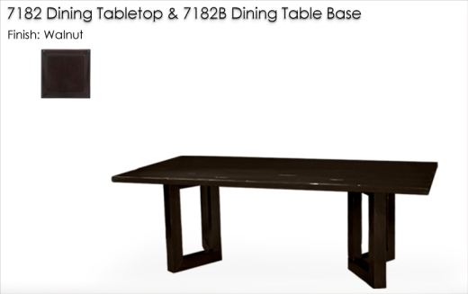 7182 / 7182B DIning Table Base finished in Walnut