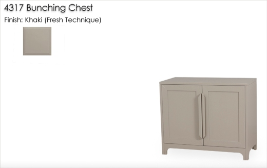 4317 Bunching Chest finished in Khaki