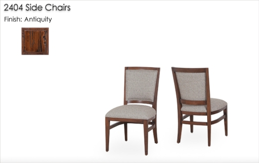 2404 Side Chairs finished in Antiquity