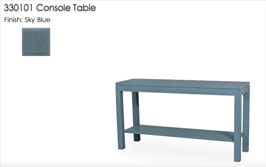 330101 Console Table finished in Sky Blue