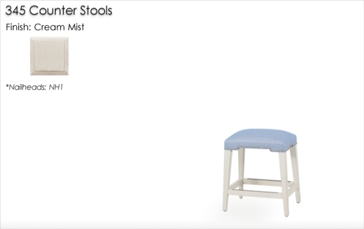 345 Counter Stools finished in Cream Mist
