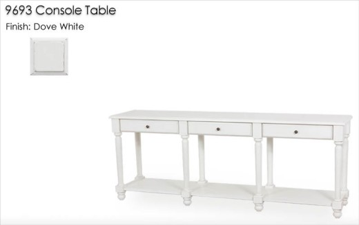 9693 Console Table finished in Dove White