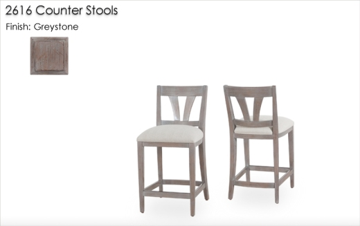 2616 Counter Stools finished in Greystone