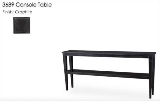 3689 Console Table finished in Graphite
