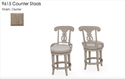 9615 Counter Stools finished in Oyster