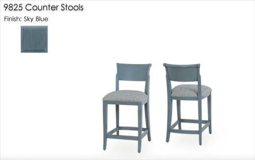 9825 Counter Stools finished in Sky Blue
