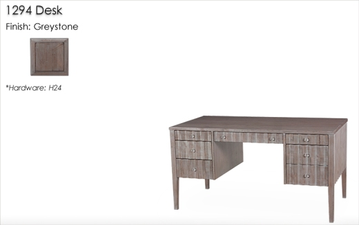 1294 Desk finished in Greystone