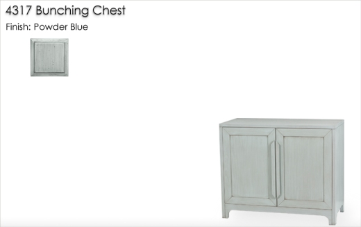 4317 Bunching Chest finished in Powder Blue