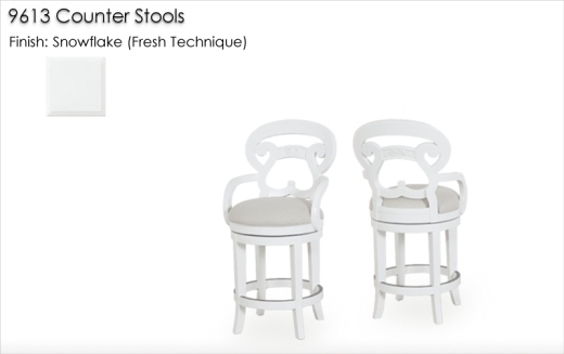 9613 Counter Stools finished in Snowflake (Fresh Technique)