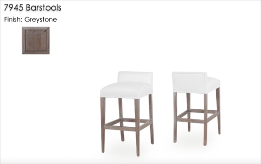 7945 Barstools finished in Greystone