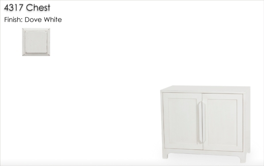 4317 Chest finished in Dove White