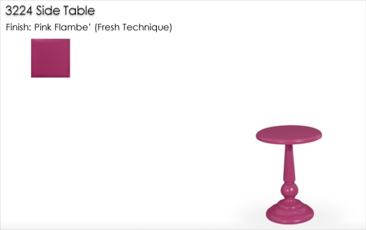 3224 Side Table finished in Pink Flambe' Fresh Technique