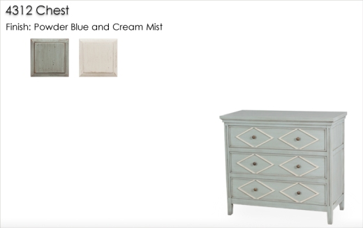 4312 Chest finished in Powder Blue and Cream Mist