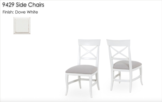 9429 Side Chairs finished in Dove White