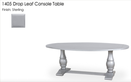 1405 Drop leaf Console Table finished in Sterling