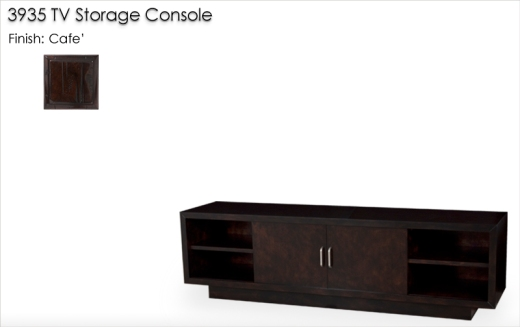 3935 TV Storage Console Table finished in Cafe'