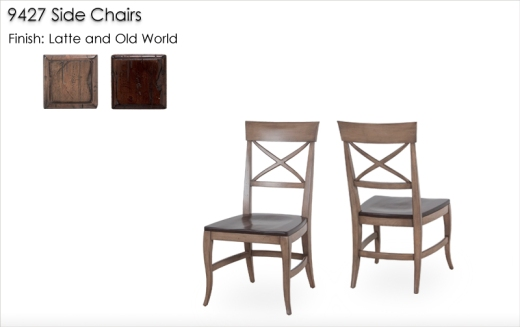 9427 Side Chairs finished in Latte and Old World