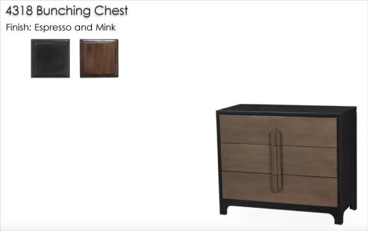 4318 Bunching Chest finished in Espresso and Mink