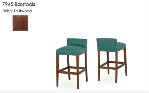 7945 Barstools finished in Fruitwood