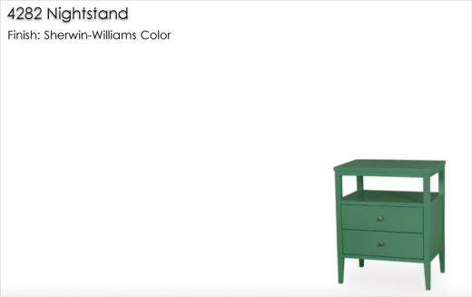 4282 Nightstand finished in a Sherwin Williams color