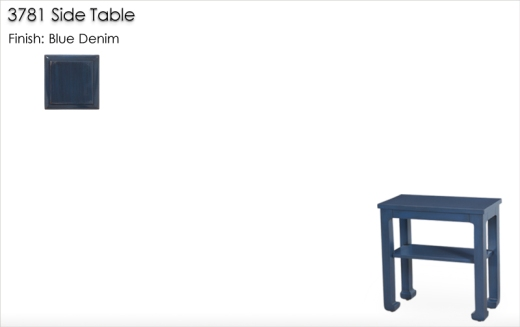 3781 Side Table finished in Blue Denim