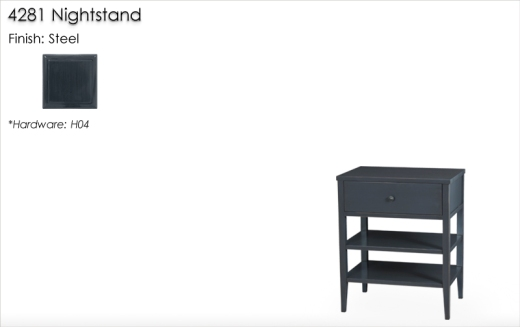 4281 Nightstand finished in Steel