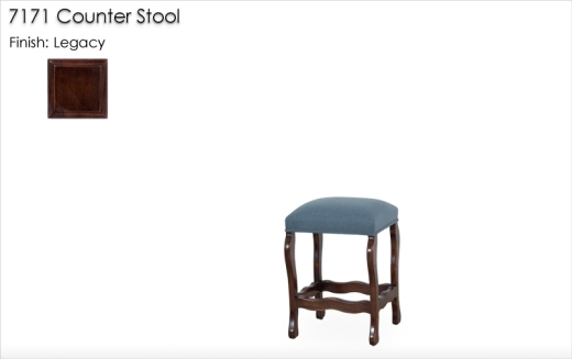 7171 Counter Stool finished in Legacy