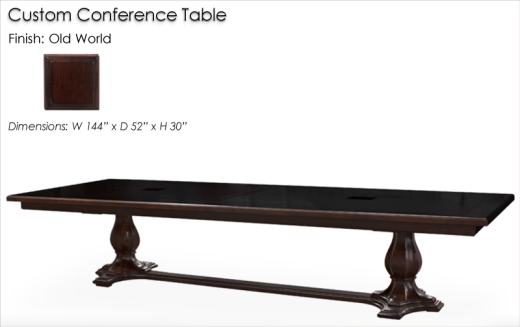 Custom Conference Table finished in Old World