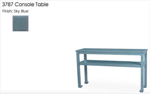 3787 Console Table finished in Sky Blue