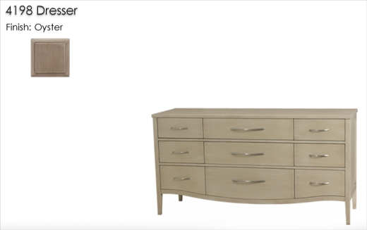 4198 Dresser finished in Oyster