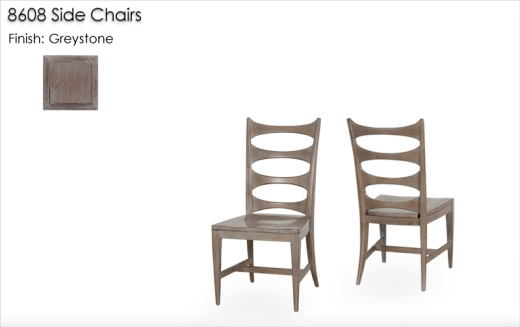 8608 Side Chairs finished in Greystone