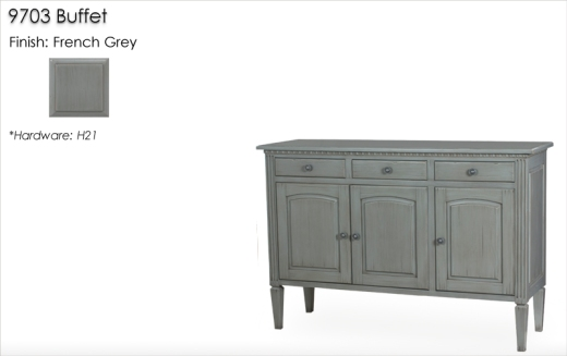 9703 Buffet finished in French Grey