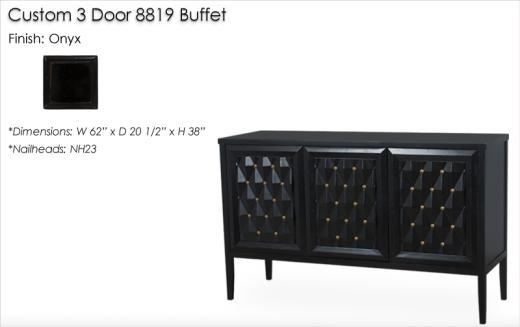 Custom 3 Door 8819 Buffet finished in Graphite