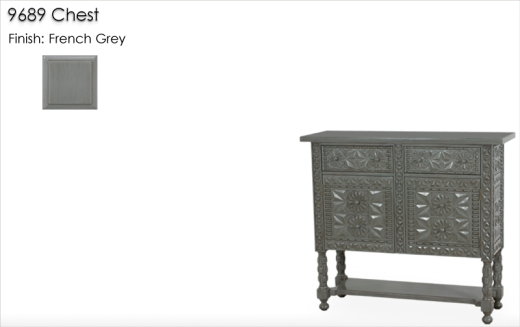 9689 Chest finished in French Grey