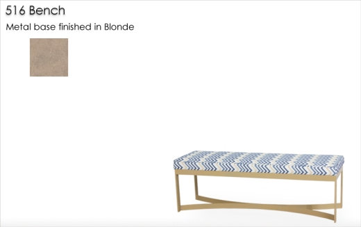 516 Bench finished in Blonde