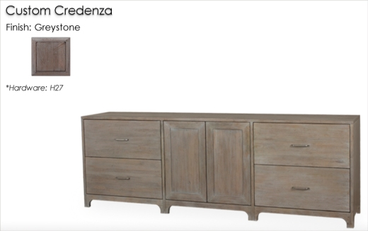 Lorts Custom Credenza finished in Greystone
