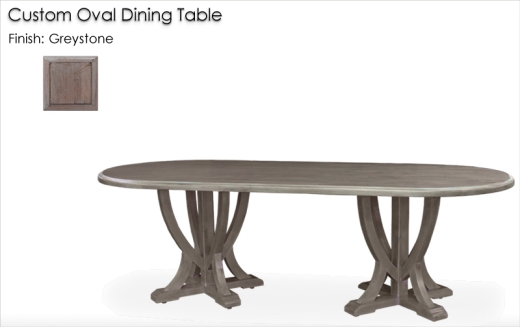 Lorts Custom Oval Dining Table finished in Greystone