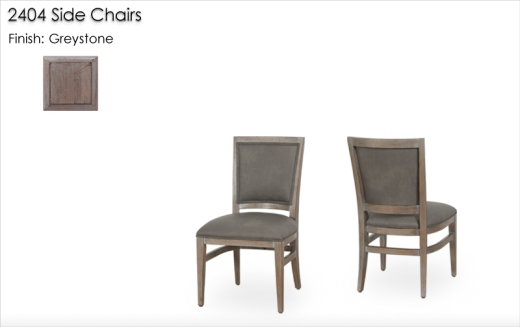 Lorts 2404 Side Chairs finished in Greystone