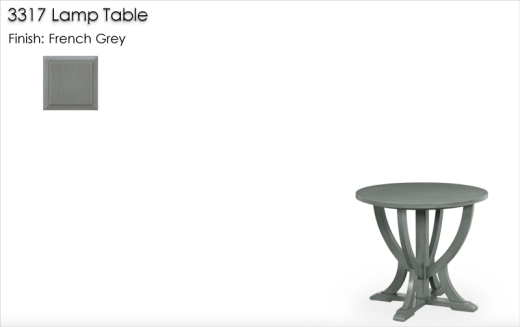 Lorts 3317 Lamp Table finished in French Grey