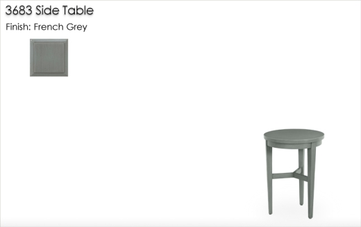 Lorts 3683 Side Table finished in French Grey